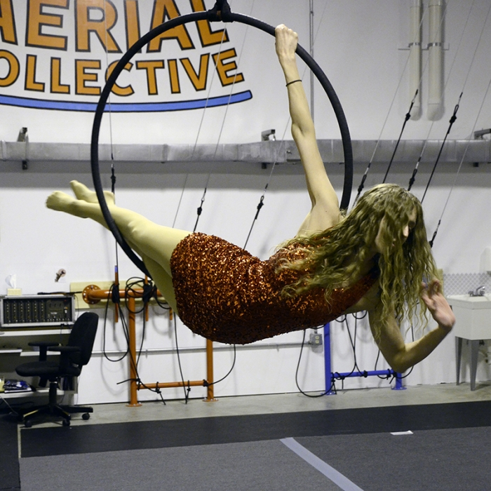 Gretchen on a hoop