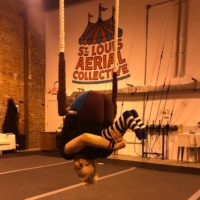 Sandra hip hang on trapeze